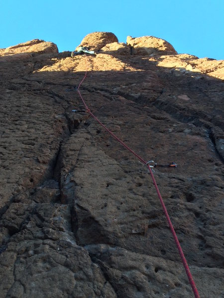 Rock Climbing Photo: Top out on The Crosses Are Free