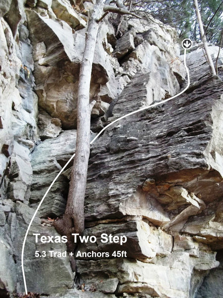 Rock Climbing Photo: Ramps up and right just right of the left side top...