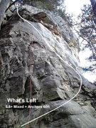 Rock Climbing Photo: Traverse slightly left to finish on the left side ...