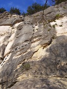 Rock Climbing Photo: Several crux sections along this line
