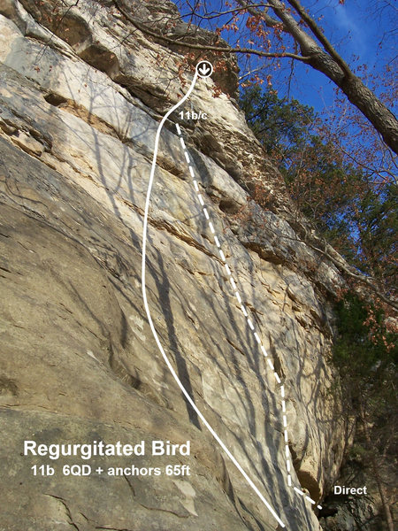 Rock Climbing Photo: Direct start option for those who follow on top ro...