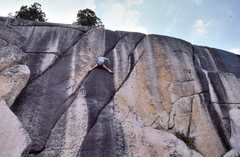 "Rock Climbing Photo: Vaino Kodas a little higher up ""Hot Box""..."