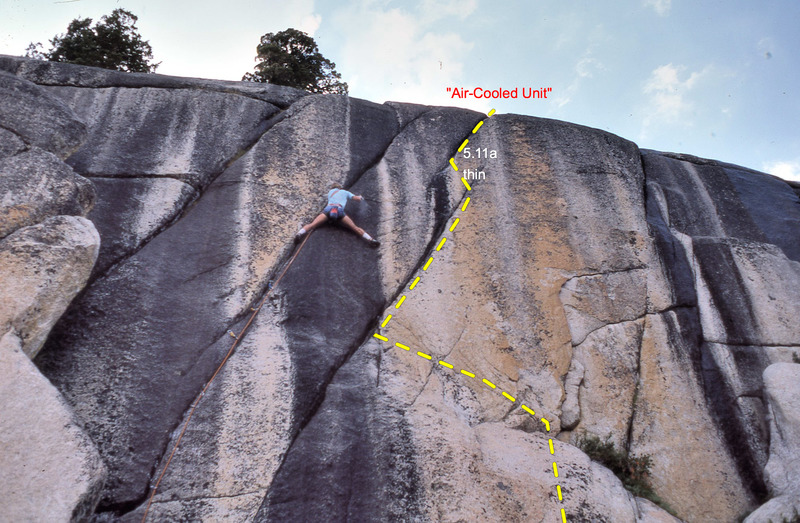 "Rock Climbing Photo: Shows the line of ""Air-Cooled Unit"" left..."