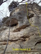 Rock Climbing Photo: Turtle Wall has what looks to be the shape of a se...