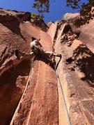 Rock Climbing Photo: Thin crack stem start