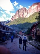 Rock Climbing Photo: Walking back into town from a day of climbing. Pre...