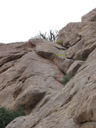 Rock Climbing Photo: A 5.7 variation of the top out. The start of the y...