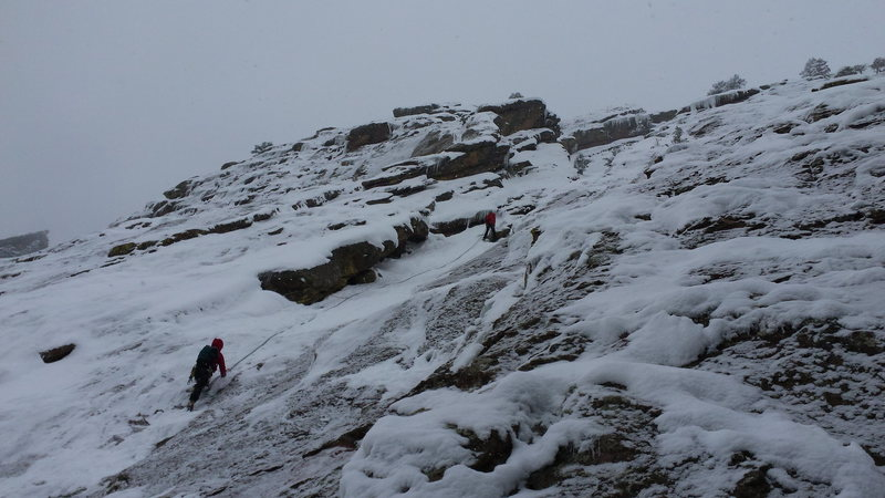 Rock Climbing Photo: Another party heading up Silk Road as Austin skis ...