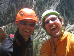 Rock Climbing Photo: Mike W. and I somewhere in Eldorado Springs.  Spri...