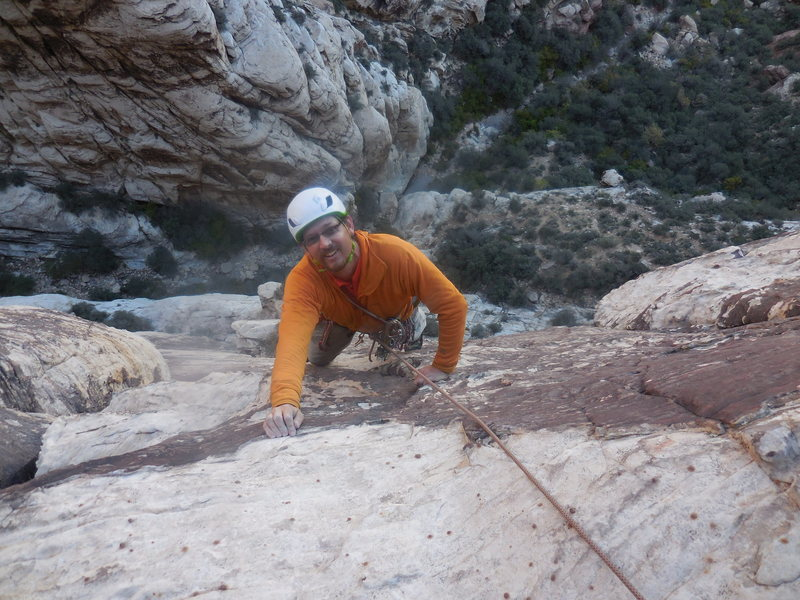 Rock Climbing Photo: Climbing at Red Rock.  Spring 2015.