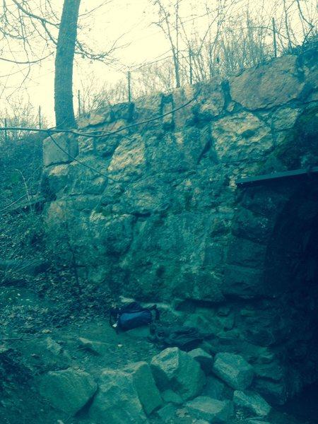 Rock Climbing Photo: Left most problem