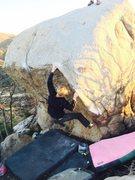 Rock Climbing Photo: Milo Shumpert on the FA of Sticks and Stones