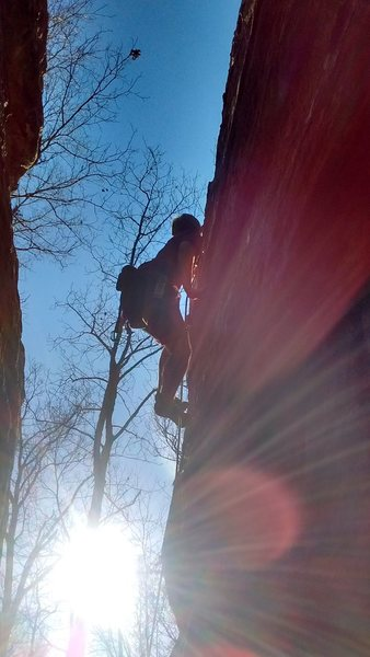 great to climb at the end of the day. sun is in best spot for great photos