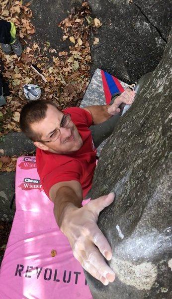 Rock Climbing Photo: Sooo close!
