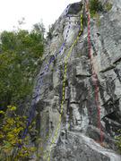 Rock Climbing Photo: A- L'été des Indiens 5.11d B- Vérités dérange...