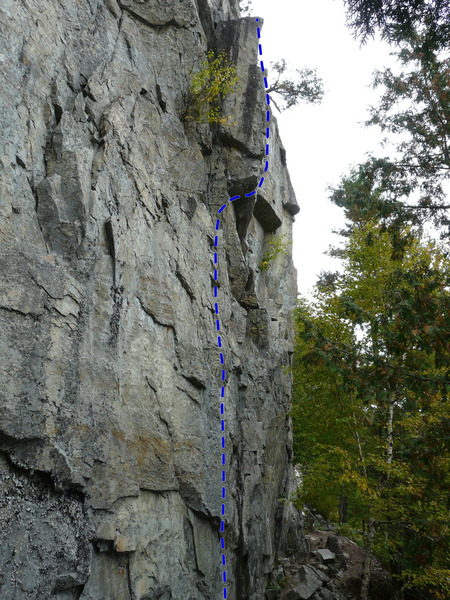 Rock Climbing Photo: Dans ta face 5.11d