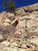 Rock Climbing Photo: The rappel route down from the left side of The Bi...