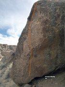 Rock Climbing Photo: Crispin Waddy V6, Topo