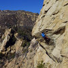 The Nose on Gibraltar Rock above Santa Barbara.  A nice day in the sun with Claire, Danielle, and Brian.  Dec 2015.