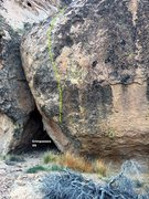 Rock Climbing Photo: Chimpanzee V6, Topo