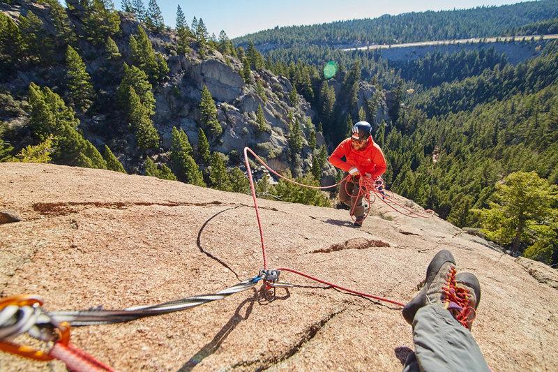 Rock Climbing Photo: Trail running P2.  Buahaha :-)