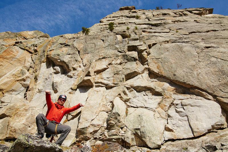 Rock Climbing Photo: Lunch ledge feeling good