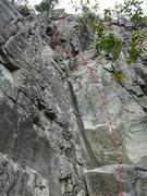Rock Climbing Photo: Denis de l'évidence 5.9