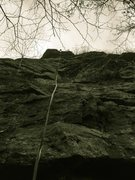 Rock Climbing Photo: Here's a good ground view of the route you will be...
