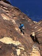 Rock Climbing Photo: Start of p3, Birdland, Red Rock, NV.