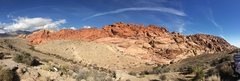 Rock Climbing Photo: Pano of the First Pullout Area, RR, NV.