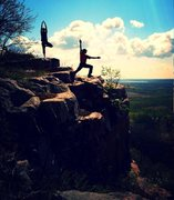 Rock Climbing Photo: Atop Vulture lookout, Devils Lake, WI