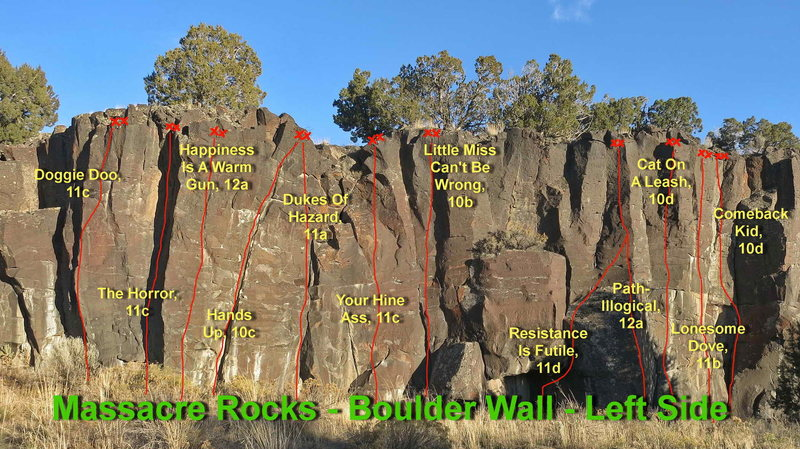 Rock Climbing Photo: Left Side of Boulder Wall
