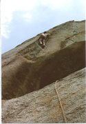 Rock Climbing Photo: Tom Cosgriff on Wild Child circa 1984/85