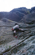 Rock Climbing Photo: Tom Cosgriff on 2nd pitch League of Doom around 19...