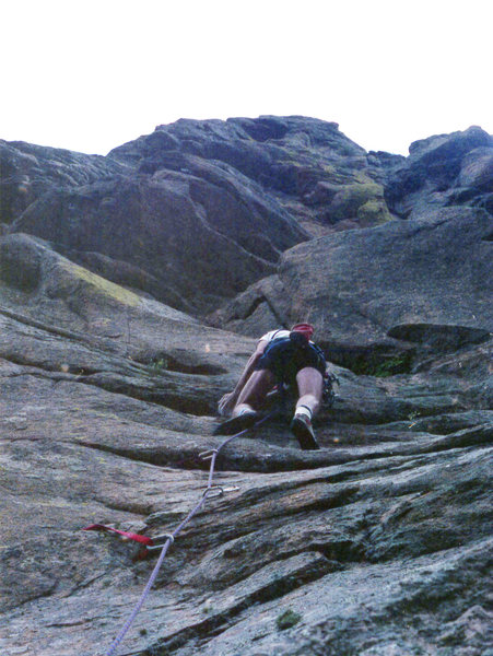 Rock Climbing Photo: Tom Cosgriff at the crux of League of Doom