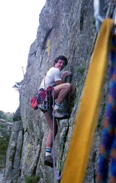 Rock Climbing Photo: Tom Cosgriff starting pitch 2