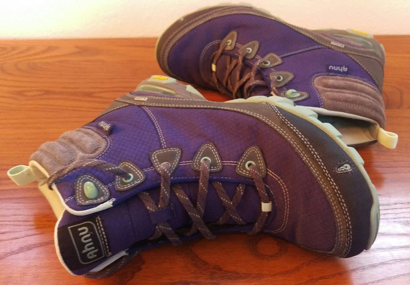 Rock Climbing Photo: Purple Ahnu Boots