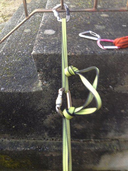 "Rock Climbing Photo: ""half loop"" sling"