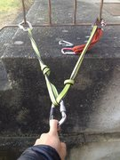 Rock Climbing Photo: sliding X ... no need to take out knots as they ac...