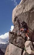 "Rock Climbing Photo: Mark Hill starting up ""Hidden Persuasion&quot..."