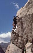 "Rock Climbing Photo: Marc Hill further up ""Hidden Persausion""..."