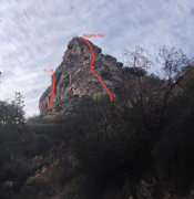 Rock Climbing Photo: View from the approach