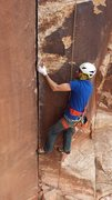 "Rock Climbing Photo:  Dan ""shoot my good side"" Boozan in Indi..."