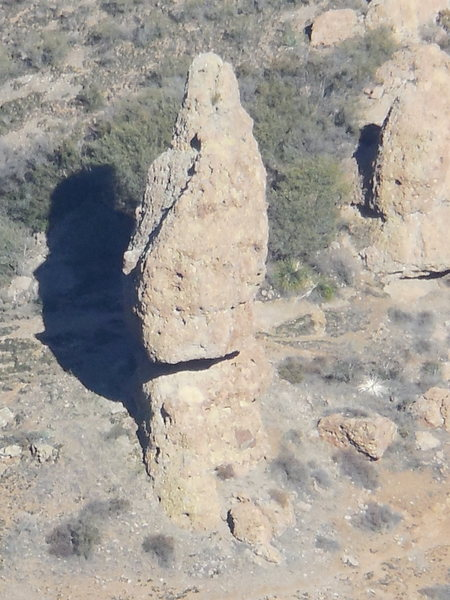 Rock Climbing Photo: Balanced Rock from Sandstone Peak (Mt. Allen).