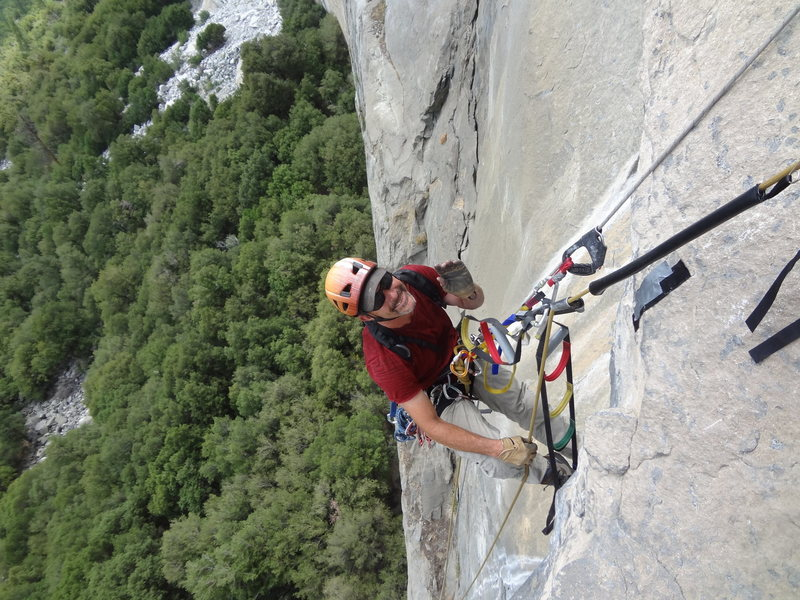 Rock Climbing Photo: John Durr on Tangering Trip attempt.  Summer 2015....