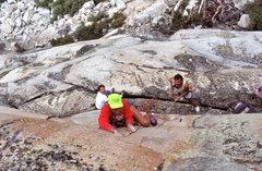 "Rock Climbing Photo: Dave Yerian leading ""Sweet Suspicion"" (5..."