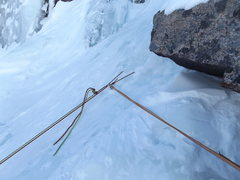 Rock Climbing Photo: Existing P2 V-threads.
