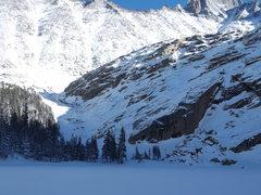 Rock Climbing Photo: Black Lake Slabs, Dec. 27th 2015 conditions.