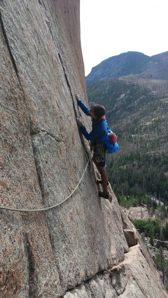 Rock Climbing Photo: Jordon Griffler on Days of Heaven. RMNP. Late summ...