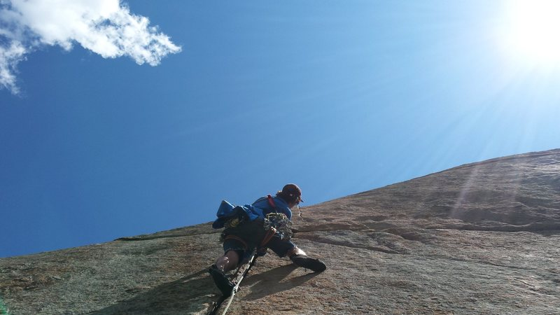 Jordon Griffler on the last pitch of Days of Heaven. RMNP. Late summer 2015.